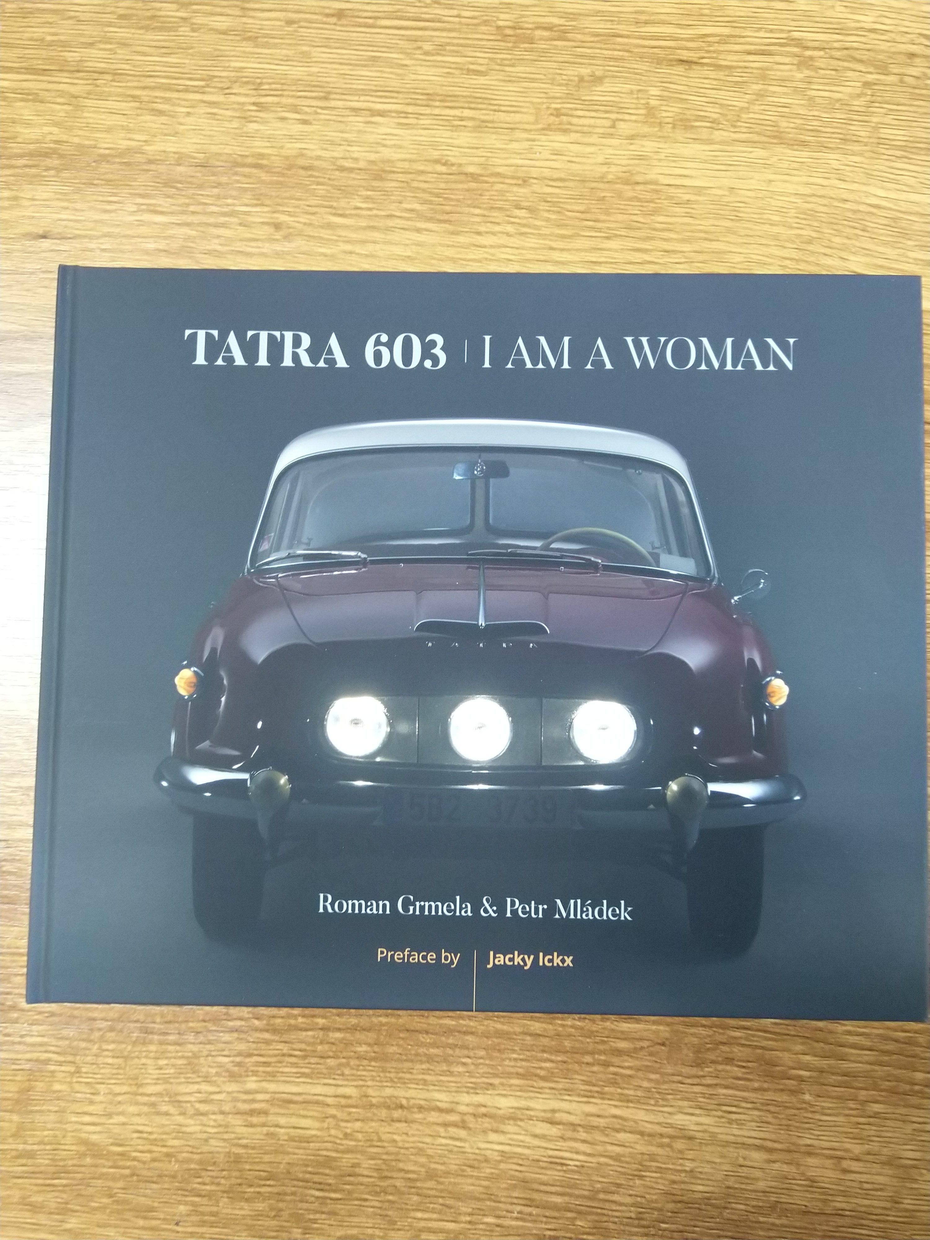 Kniha o vzniku T603 – anglická verze s originálně podepsanou předmluvou od Jacky Ickx